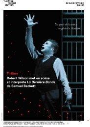 Robert Wilson met en scène et interprète La ... - Forum-Meyrin