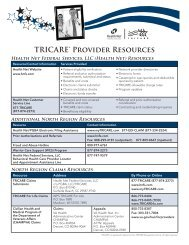 TRICARE® Provider Resources
