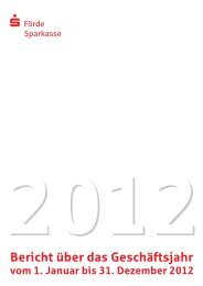 Geschäftsbericht 2012 (PDF) - Förde Sparkasse