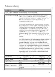 Modulbeschreibungen Modul M1 GHRGe