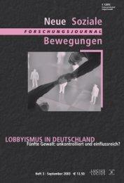 Vollversion (8.17 MB) - Forschungsjournal Soziale Bewegungen