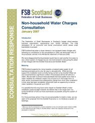 Non-Household Water Charges - Federation of Small Businesses