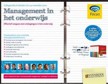 Management in het onderwijs - Focus Conferences