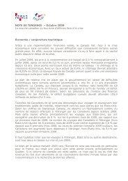 NOTE DE TENDANCE – Octobre 2009 Le marché canadien du ...