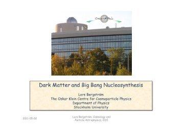 Lars Bergström, Cosmology and Particle Astrophysics, 2011 2011 ...