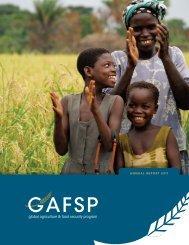 First Annual GAFSP Report