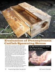 Evaluation of Pennsylvania Catfish Spawning Boxes