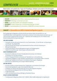 Juli 2013 . LERNPATEN-Info-Blatt - Freiwilligenagentur Magdeburg