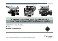 A Gasoline ECU Solution Based on Freescale Entry- Level Power ...