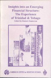 Trinidad and Tobago's Experience - Caribbean Centre for Money ...