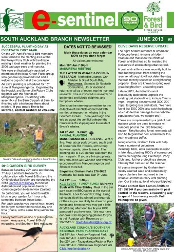 e-Sentinel Jun 13 v4.pdf - Forest and Bird