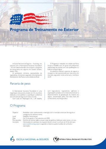 Programa de Treinamento no Exterior - Escola Nacional de Seguros
