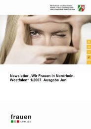 """Newsletter """"Wir Frauen in Nordrhein- Westfalen"""" 1 ... - frauennrw.de"""