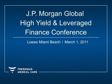 J.P. Morgan Global High Yield & Leveraged Finance Conference