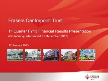 Financial Results Presentation - Fraser and Neave Limited