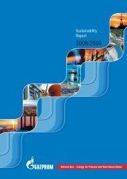 Sustainability Report | 2008–2009 - Gazprom