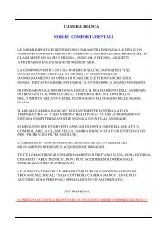 Norme comportamentali Camera Bianca o Pulita - INFN