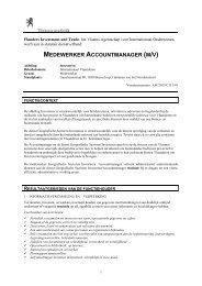 functiebeschrijving - Flanders Investment & Trade