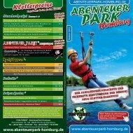Flyer AbenteuerPark Homburg - Fun Forest AbenteuerParks