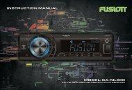 MODEL: CA-ML600 INSTRUCTION MANUAL - Fusion