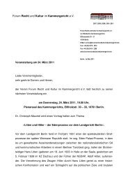 Forum Recht und Kultur im Kammergericht e.V. - Forum ...