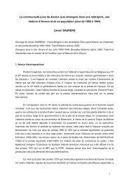 La communauté juive de Anvers - Fondation pour la Mémoire de la ...