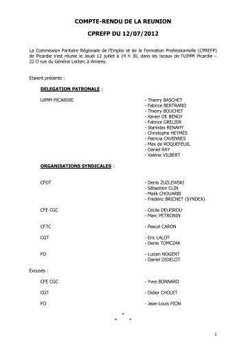 PV CPREFP 12 JUILLET 2012 V2 validé TB - Féderation - La cgt
