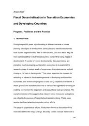 Fiscal Decentralisation in Transition Economies and Developing ...