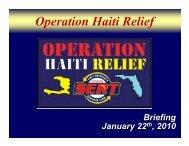 Operation Haiti Relief - Florida Department of Education