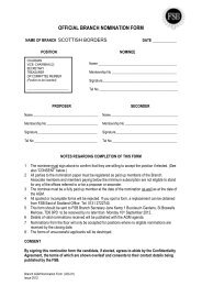 OFFICIAL NOMINATION FORM - Federation of Small Businesses