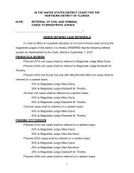 Referral of Civil and Criminal Cases to Magistrate Judges