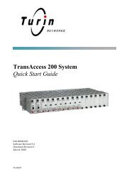 TransAccess 200 System Quick Start Guide - Force10 Networks