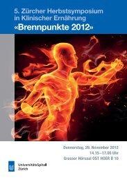 «Brennpunkte 2012» - Fortbildung - UniversitätsSpital Zürich