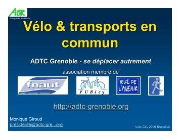 Vélo & transports en commun ADTC Grenoble - se déplacer autrement