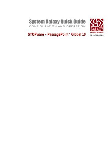 PassagePoint Global v10 - Galaxy Control Systems