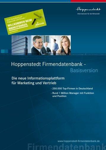 Die neue Hoppenstedt Firmendatenbank - Firmendatenbank von ...
