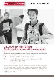 Die Berufslehre vor neuen Herausforderungen - Forum Bildung
