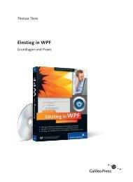 Einstieg in WPF (PDF) - Galileo Computing