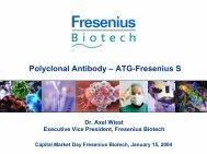 Polyclonal Antibody ? ATG-Fresenius S