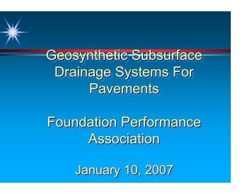 Geosynthetic Subsurface Drainage Systems For Pavements ...
