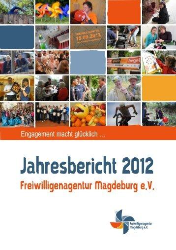 Jahresbericht 2012 - Freiwilligenagentur Magdeburg