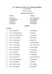 E1 - Junioren Turnier des SV Planegg-Krailling - Gautinger ...