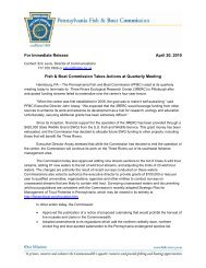 PDF version of this release - Pennsylvania Fish and Boat Commission