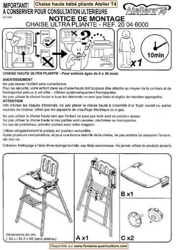 Chaise Bb Pliante Ateliers T4