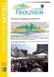 Blättle KW 20 - Friolzheim