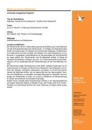 Programm Hiddensee 2011 - forum unna