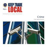 Keep Trade Local Manifesto - Federation of Small Businesses