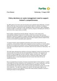 Policy decisions on waste management need to support ... - Forfás