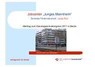 Präsentation von Joachim Burg, Jobcenter Junges Mannheim