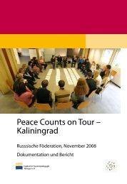 Peace Counts on Tour – Kaliningrad - Institut für Friedenspädagogik ...